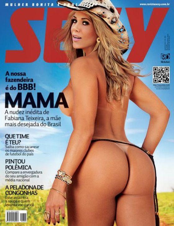 Revista Sexy de MAMA (ex-BBB Fabiana)