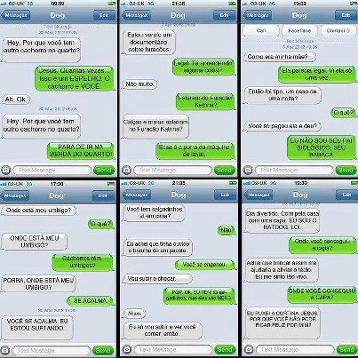 FB: sms enviada por cachorros