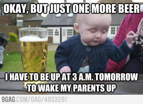 9gag: Bebê bêbado