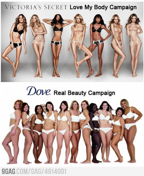 9gag: dove vs. victoria's secret