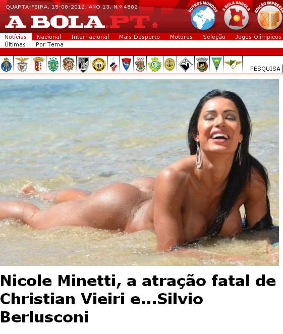 A Bola: Jornal Português confunde Gracyanne Barbosa com ex de Berlusconi