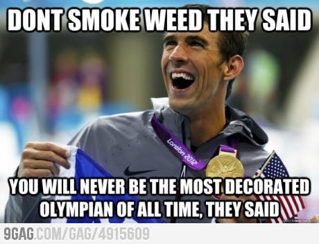 9gag: Michael Phelps vs Maconha